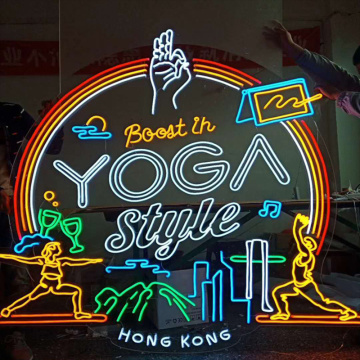 YOGA STORE LED NEON ILLININATED SIGNAGE