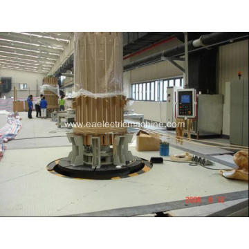 Vertical winding machine with mandrel