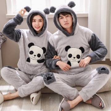 Grey pyjamas with panda prints