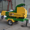 CE diesel mobile wood chipper branches