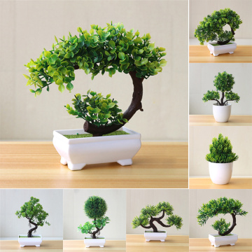 Artificial Plants Potted Bonsai Green Small Tree Plants Fake Flowers Potted Table Ornaments For Home Garden Party Hotel Decor