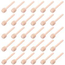 30 PCS Mini Wood Honey Dipper Sticks,8cm Server for Honey Jar Dispenser Drizzle Honey