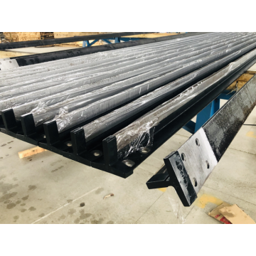 Machined elevator guide rails