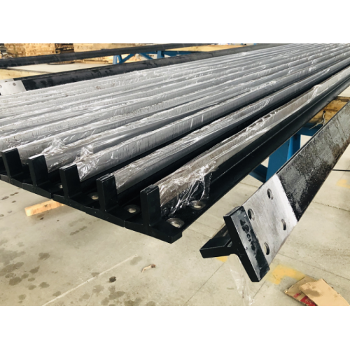 Machined elevator guides rails