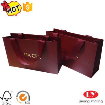 Fashion Paper Shopping Bag with Ribbon Handle