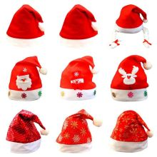 Adult Child Christmas Cap Ornaments Santa Hats For Christmas Party Props Christmas Hat Home Festive Party Supplies