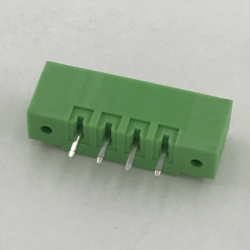 3.81mm pitch straight angle PCB green terminal block