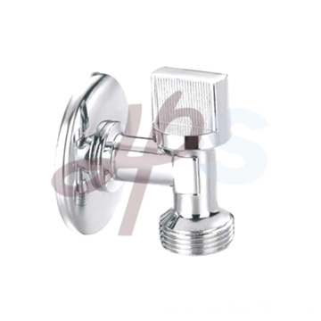 Brass angle type valve with plated chrome