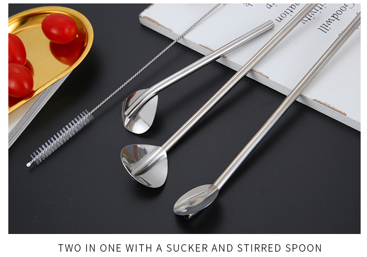 Straight Drinking Spoon Straw