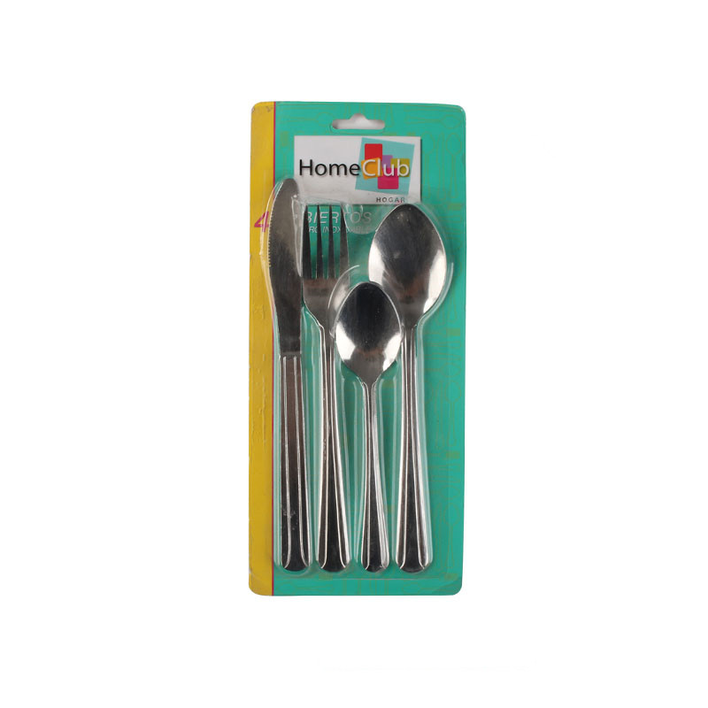 Supermarket Stainless Steel Cutlery Color Card Set