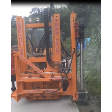 hydraulic guardrail post driver