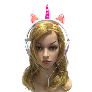 Unicorn Cat Ear Foldable Headphones for Kids