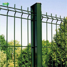 PE coated triangle bending wire mesh fence