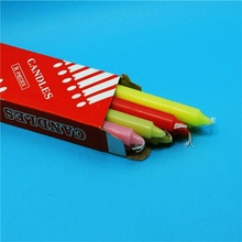 12g colorful candle 17cm stick ethiopia candle