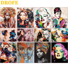 DIY Painting By Numbers Adults Portrait Full Kits Oil Paint By Numbers Art Figure Drawing Paint With Number 50x40cm Home Decor