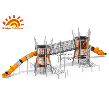 Outdoor Park Playground Structure With Slide For Children