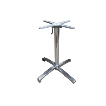 Indoor Aluminum Polished table base for cafe