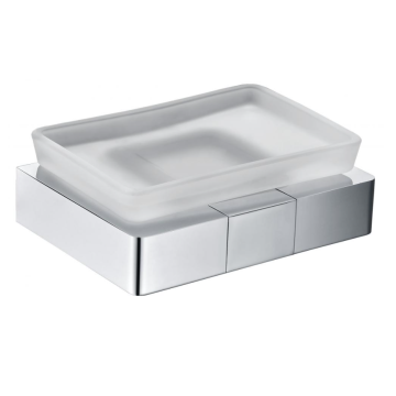 Rectangular glass soap dish is durable and beautiful