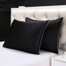 100% Silk Pillowcase With Piping For Hair Zipper