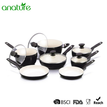 Pressed Weld Aluminum Ceramic Kitchen Cookware Set