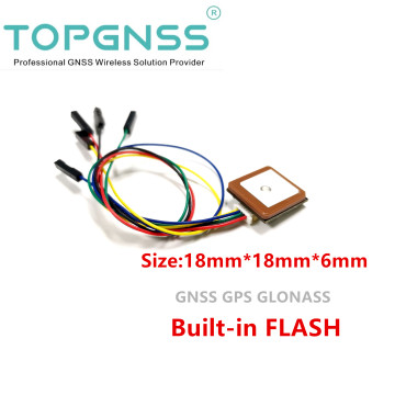 NMEA0183 UAV module small size UART TTL level,GNSS module,GPS GLONASS Dual-mode GPS module antenna,built in Flash
