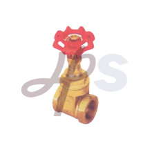 female thread steel handwheel forged brass gate valve