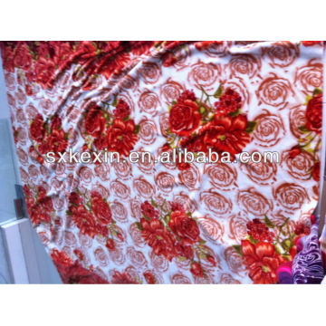 newest printed flower designs Flannel blanket