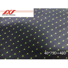 Cotton green polyester stretch 40*75D+40D 146CM 125GSM