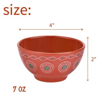 "4"" Melamine Deep Bowl Set of 6"