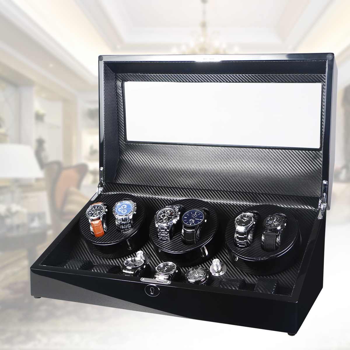 watch winder box for display