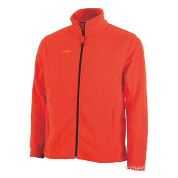 Orange 100% polyester Fleecejacka