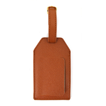 Custom Design Faux Saffiano Pu Leather Luggage Tags