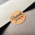Customized Logo Label Thank You Adhesive Stickers
