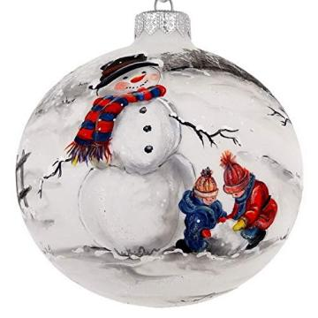 Customizable Hand Pained Christmas Glass Ball Ornaments