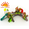 Bridge Green Leaf Amusement Playground Equipment For Sale