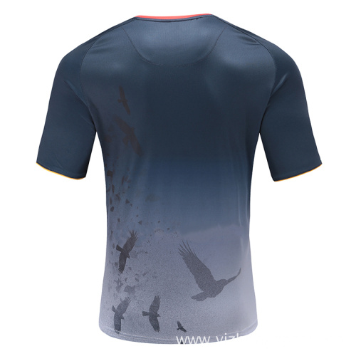 Mens Dry Fit Rugby Wear T Shirt
