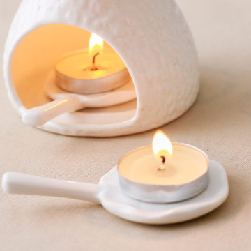 mini Christmas white unscented tealight candles wholesale