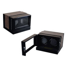 Black 2 Rotors Rolling Watch  Winder