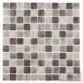 3D Square Grey Printing Recycled Glass Tile Mosaic
