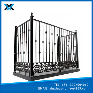 Easily Assembled Outdoor Fluorocarbon balcony fencing