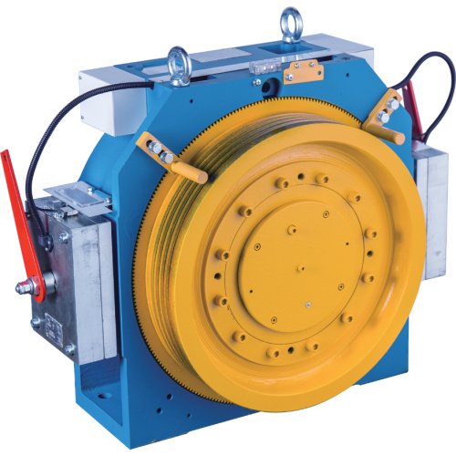 Gearless Elevator Traction Machine With Block Brake