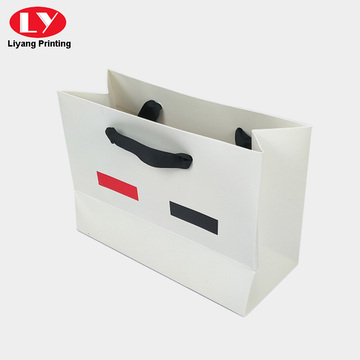 Printed luxury standard size ribbon paper shopping bag