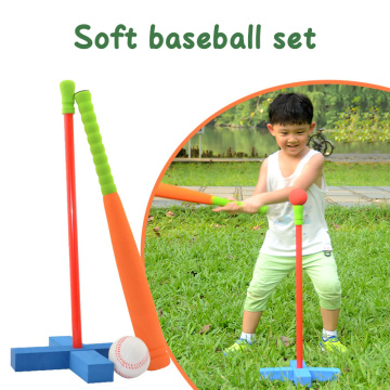 3-Pcs Set Baseball Toy Set Soft Activity Fitness Safety Sports Play Games Kids Training Outdoor Children Fitness Bat Foam