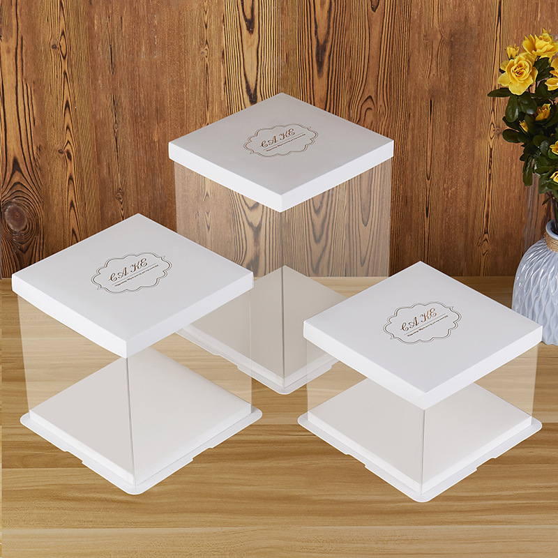 Plastic clear cake packaging box