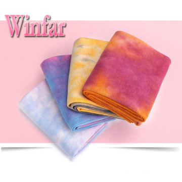 Single Jersey Tie Dye Polyester Spandex Fabric