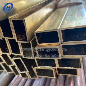 Square cold drawn seamless brass pipes C27000