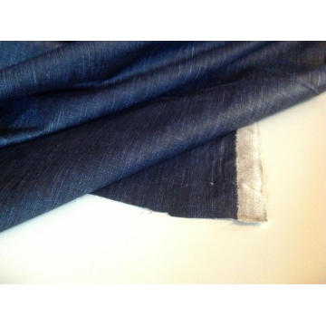 Beautiful Denim Cotton Waxed Rain Coat Jacket Fabric