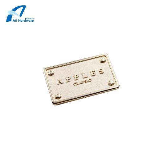 Decorative Bag Accessories Fashion Clothing Metal Logo Label