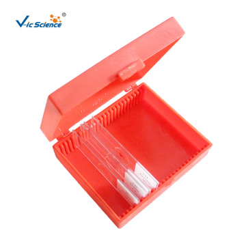 Red Microscope Slide Storage Box