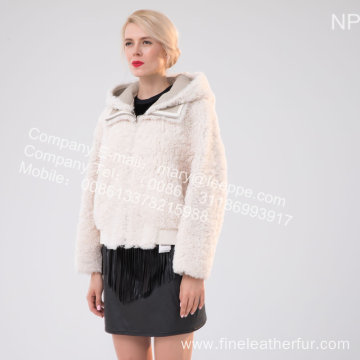 Short Fur Jacket In Icelandic Lamb For Lady